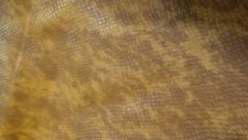 Italian Cowhide leather skin Embossed  Lizard Amber 20 By 30 Inches  3 oz