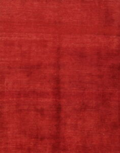 New!Grand Soft Plush Solid Modern Red Wool Gabbeh Oriental Area Rug 4x6 Carpet