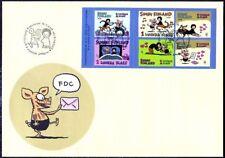 Friendship Cartoon Viivi Wagner Finland Sheet FDC 2003