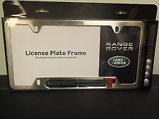 land rover range rover stainless steel license plate frame oem brand new