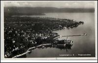 Langenargen Bodensee alte Postkarte 1933 gelaufen Gesamtansicht Fliegeraufnahme