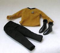 Ken Star Trek Captain Kirk Male Officer uniform outfit clothes pants shirt boots
