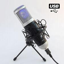 MCU-02 USB Microphone Studio Rap Chant Podcast Win XP, VISTA 7 8 10 MAC Android