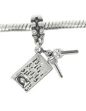 STERLING SILVER DANGLE EUROPEAN STYLE DRIVER'S LICENSE WITH KEYS BEAD CHARM