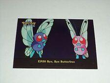EP20 Bye, Bye Butterfree Foil Holo 2000 Topps Pokemon Series 2 Episode Card