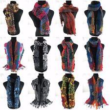 Us Seller- 10pcs flower winter thick scarves neckwarmer wholesale womens cowl