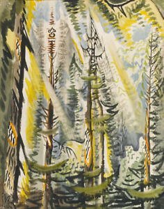 Charles Burchfield Cicada Song Of September Canvas Print 16 x 20  # 6125