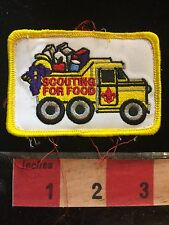 Yellow Dump Truck Scouting For Food ~ BSA Boy Scout Patch 75WT