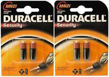 4 x DURACELL MN21 23A 23AE A23 V23GA 12v Alkaline Batteries FREEPOST