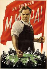 We Will Take Over The World Communist Soviet Propaganda Art Poster Print