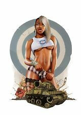 """Rugged Military Pin Up Girl 6"""" Decal FREE SHIPPING"""