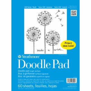 "Strathmore 100 Series Kids' Art Paper Doodle Pad (60 Sheets) 9x12"""