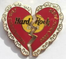 Hard Rock Cafe NEW YORK 2000 VALENTINE'S DAY Heart PIN 2-Piece Puzzle Set #6513