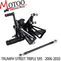 Rearset Rear Set Footrest Peg Pedal For TRIUMPH STREET TRIPLE 595 2006-2010