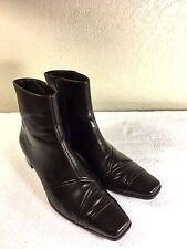 Paul Green brown leather zipper boots size 6 or U.S. 8.5