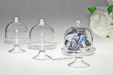 11 PC MINI CAKE DOME CLEAR PLASTIC CANDY CONTAINER SHOWER PARTY FAVORS cupcake