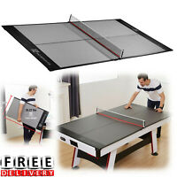 Table Tennis Conversion Top Ping Pong Net Post Outdoor Indoor Portable Fun