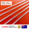 Necklace Chain Real 925 Sterling Silver S/F Solid Ladies Fine Link 40-60cm