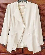NWT Anthropologie Cartonnier Ivory Cream Jacket Blazer Long Sleeve Woman Size 4
