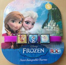 Disney Frozen Elsa Anna la OLAF y Sven Pulsera Con 3 Dijes Tarjeta Nueva