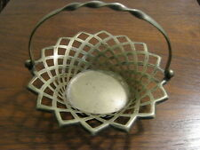 Vintage Collectible Silver Plate - Handled Basket - EPNS - Made in England