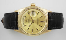 Men's Solid Gold Case Rolex Day-Date Wristwatches