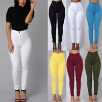 Pencil Jeans Women Fit Slim Stretch Skinny Pants High Waist Trousers Plus Size