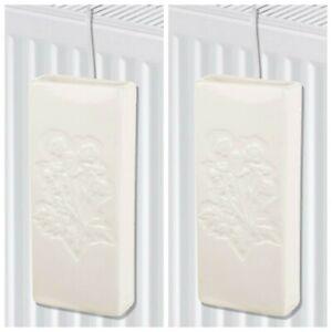 2x Ceramics Radiator Hanging Humidifier Absorb Moisture Dry Air Humidity Control