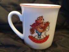 "1979 Rigg Lucy and Me Porcelain 2.5"" Mug w Bears by Enesco Rocking Horse"