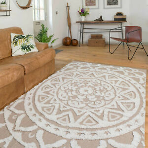 Recycled Cotton Sustainable Rug Eco Friendly Beige Indoor Dining Room Runner Mat