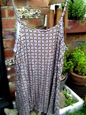 ATMOSPHERE - STRAPPY DRESS/COVER-UP - NAVY MULTI - 16 BNWT