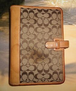Lovely Coach Signature Jacquard Agenda Planner/Day Planner/6 Rings