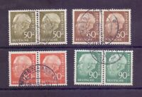 Bund 1956 -  4 waagerechte Paare aus Heuss II gestempelt - Michel 295,00 € (571)