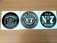 BIG SIZE-3PCS STICKERS JACK DANIELS  ROUND 3PCS- 100mm-NEW!!!