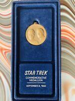 Vintage & Rare Star Trek Commemorative Medallion.  1976.  Kirk & Spock