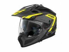 Nolan N70-2 X Grandes Alpes N-Com Flat Lava Grey / Yellow Motorbike Helmet Small