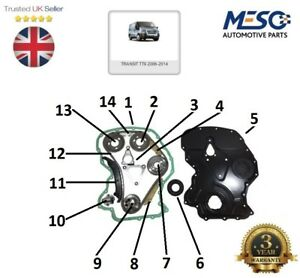 FOR FORD TRANSIT TIMING CHAIN KIT 2.4 RWD MK7 FRONT COVER GASKET CRANK SEAL