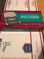 Cassette Player Recorder Optimus CTR-109 Portable AC/DC/Battery