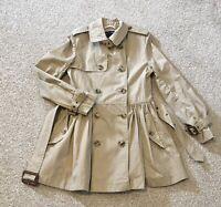 Ralph Lauren Girls Classic Trench Coat Cotton Jacket  Belt 8 years