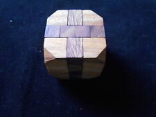Diamond Cube brain teaser  Wood puzzle