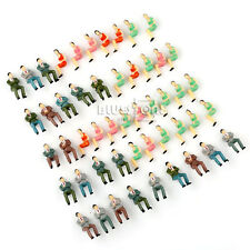 50pcs Lot Painted Model Train Seated Figures People Passengers 1:50 O Layout