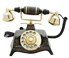Fashioned Telephone French Victorian Nautical Brass Vintage Rotary Phone Old