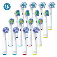 Replacement Toothbrush Heads 16 Pack for Oral B, Compatible with Pro 3000 5000