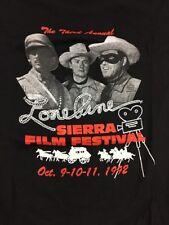 Lone Prme Sierra Film Festival 1992 Tee Shirt Size Large Black New Dead Stock