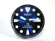 NEW REPLACEMENT SEIKO PROSPEX BLACK/BLUE DIAL SET WILL FIT SKX007-009 DIVER'S
