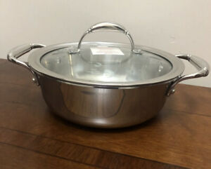 NEW Princess House Tri-Ply Stainless Steel 2.5 Qt Casserole (5728)