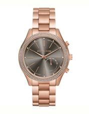 (AS IS) Michael Kors Access Slim Runway Rose Gold Hybrid Smart Watch MKT4005