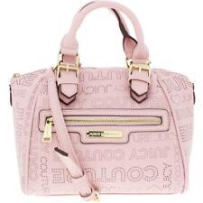 Juicy Couture Womens Promenade Pink Logo Satchel Handbag Purse Small BHFO 9298