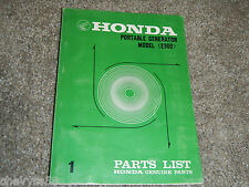 1969-1971 HONDA PORTABLE GENERATOR E900 E 900 PARTS MANUAL BOOK CATALOG