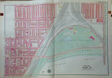 1918 FAIRMOUNT PARK WEST PHILADELPHIA G.W. BROMLEY ORIGINAL ATLAS MAP  23 X 33
